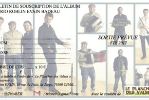 Souscription Nouvel Album Trio Roblin Evain Badeau